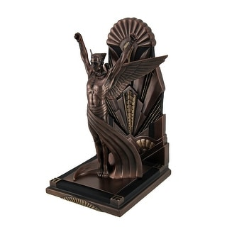 The Winged Man Metallic Copper Finish Art Deco Single Bookend Statue