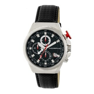 Morphic M39 Series Men's Quartz Chronograph Watch, Genuine Leather Band, Luminous Hands