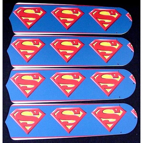 Superman Custom Designer 42in Ceiling Fan Blades Set - Multi