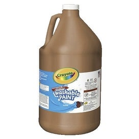 Crayola Tempera Paint, 1 gal Bottle, Brown