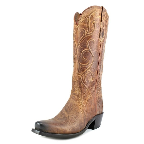 Lucchese Patsy Round Toe Leather Western Boot