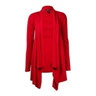 Style & Co. Women's Asymmetrical Drape Open Cardigan Sweater