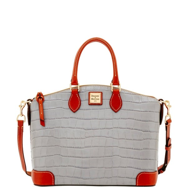 Dooney & Bourke Croco Satchel (Introduced by Dooney & Bourke at $248 in Jan 2017) - Light Grey