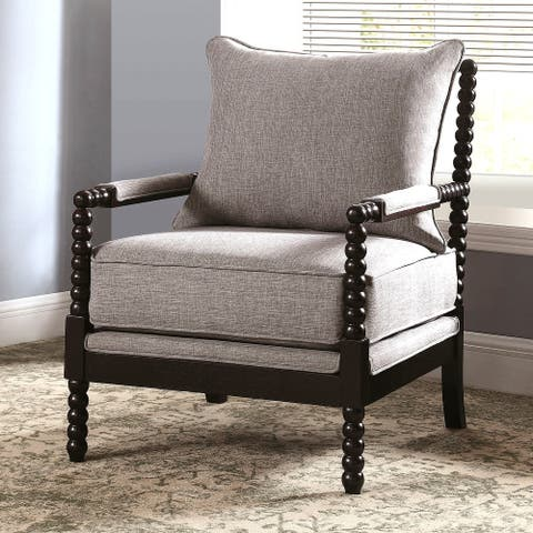 Modern Mid Century Design Grey Living Room Accent Chair
