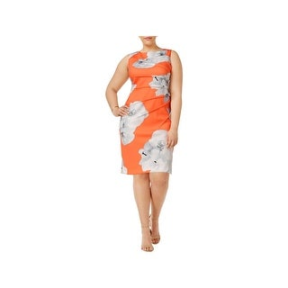 Calvin Klein Womens Wear to Work Dress Printed A-Line