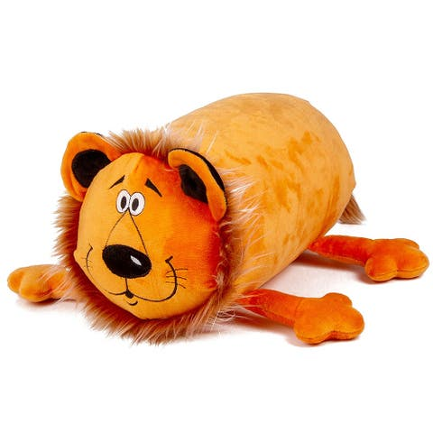Mooshi Squishy Comfortable Bolster Roll Pillow in Lion Design