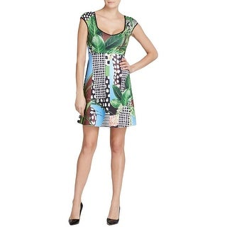 Clover Canyon Womens Cocktail Dress Graphic Sleeveless