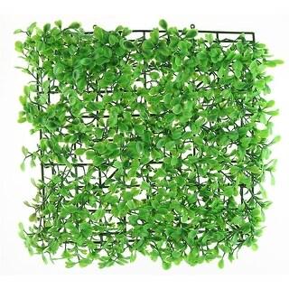 Aquarium Plastic Square Shaped Artificial Plant Grass Lawn Green 25cm x 25cm