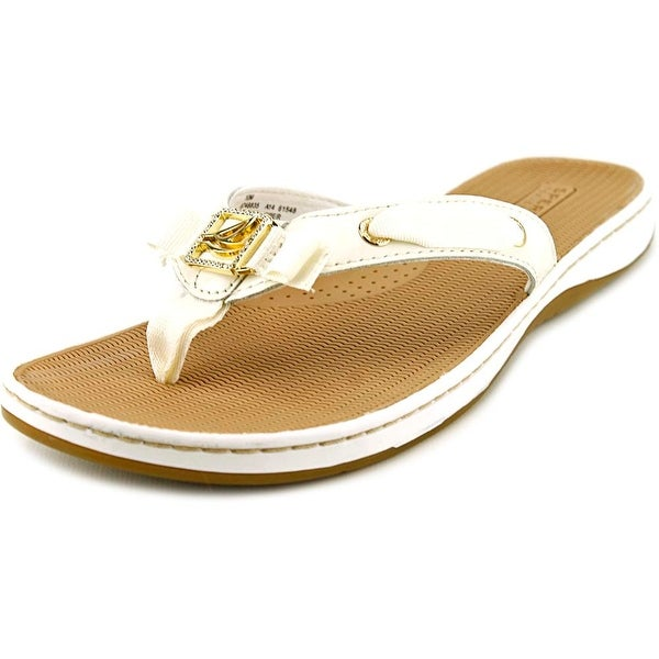 Sperry Top Sider Serena Fish Women Open Toe Leather White Thong Sandal