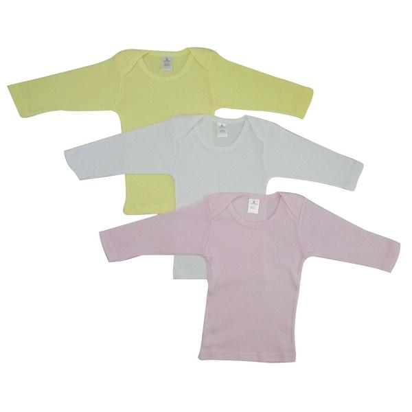 Bambini Girls Pastel Variety Long Sleeve Lap T-shirts - Size - Large - Girl