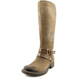 Earth Sierra Round Toe Leather Knee High Boot