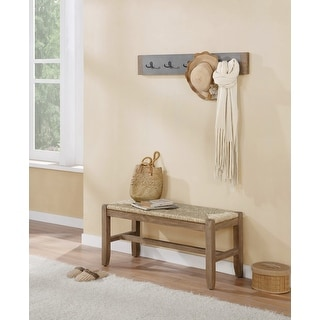 Link to The Gray Barn Enchanted Acre 40-inch Coat Hook and Rush Seat Bench Set Similar Items in Living Room Furniture