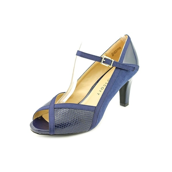 Karen Scott Nevv Women Peep-Toe Synthetic Blue Mary Janes