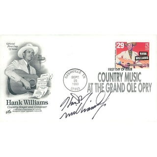 Signed Williams Hank Jr Hank Williams First Day Cover autographed