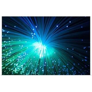 """Green Blue Optic fiber"" Poster Print"