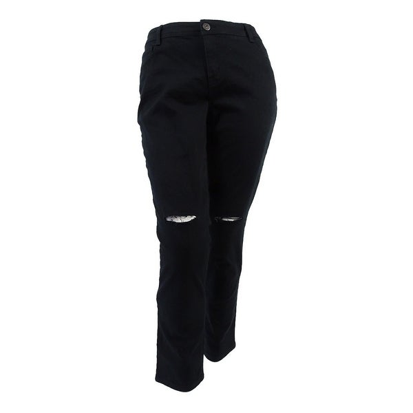 e2e8b1e6137 Shop Style   Co. Women s Plus Size High Rise Slim Leg Jeans - Deep Black -  On Sale - Free Shipping On Orders Over  45 - Overstock - 20564929