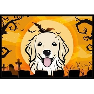 Carolines Treasures BB1763MAT Halloween Golden Retriever Indoor & Outdoor Mat 18 x 27 in.