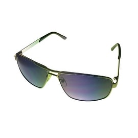 Perry Ellis Mens Sunglass PE40 2 Silver Square Metal Aviator, Light Smoke Lens