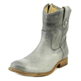 Frye Melissa Button Short Round Toe Leather Bootie