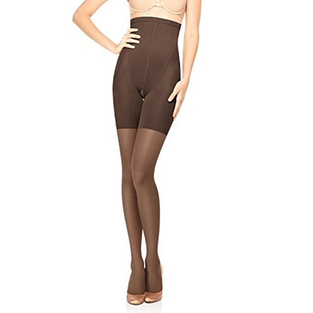 $28 Spanx Super Shaping Sheers In-Power Line Tummy Control Pantyhose B BLACK