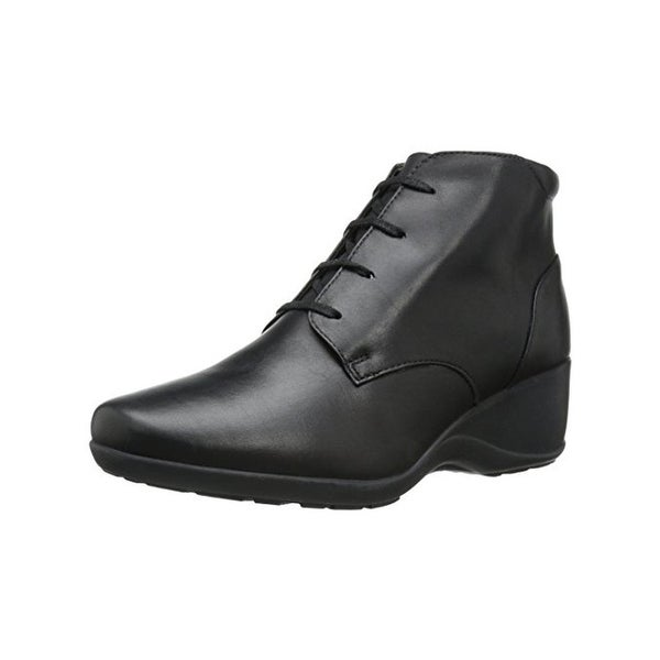 Clarks Womens Allura Astra Booties Leather Lace Up