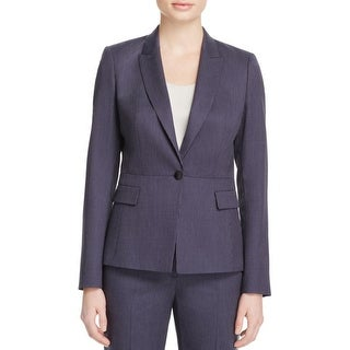 Hugo Boss Womens One-Button Suit Jacket Striped One Button