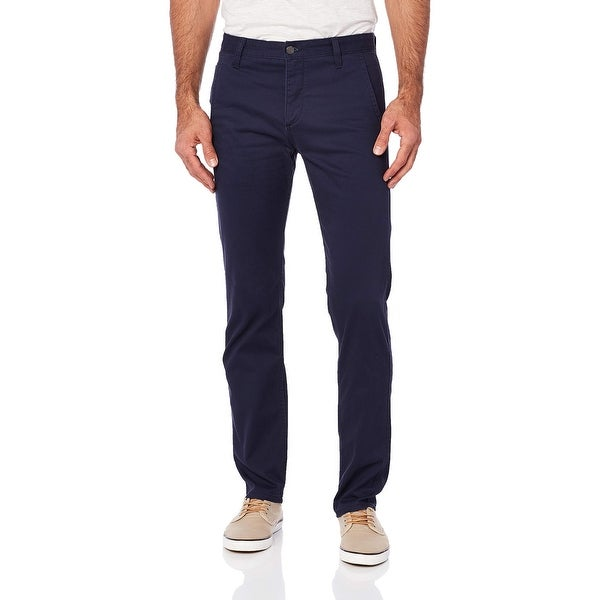 Dockers Mens Pants Navy Blue Size 40x32 Slim Fit Tapered Khaki Stretch. Opens flyout.