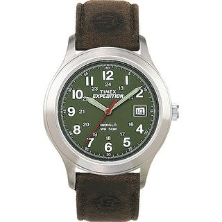 Timex Expedition Metal Field Full-Size Watch - Olive Dial/Brown Leather