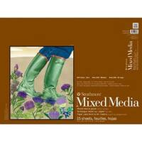 "Strathmore Mixed Media Paper Pad 18""X24""-15 Sheets"