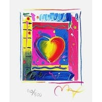 "Heart Series III, Ltd Ed Lithograph (Mini 5"" x 4""), Peter Max"