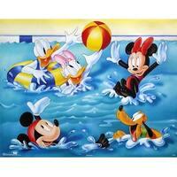 ''Mickey & Friends: Pool Games'' by Walt Disney Walt Disney Art Print (22 x 28 in.)