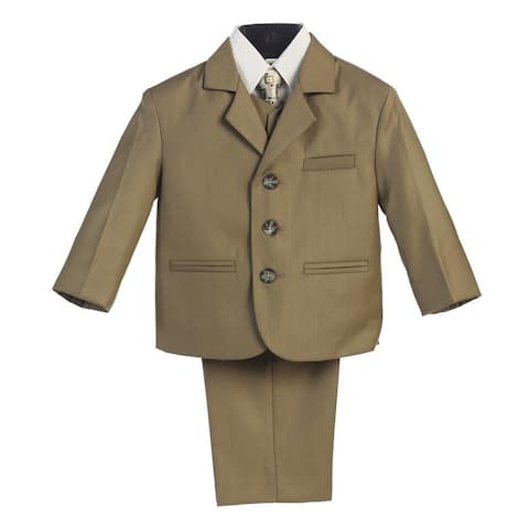 Baby Boys Olive Wedding Easter 5 Pcs Special Occasion Suit 6-24M