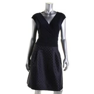 American Living Womens Metallic Polka Dot Cocktail Dress