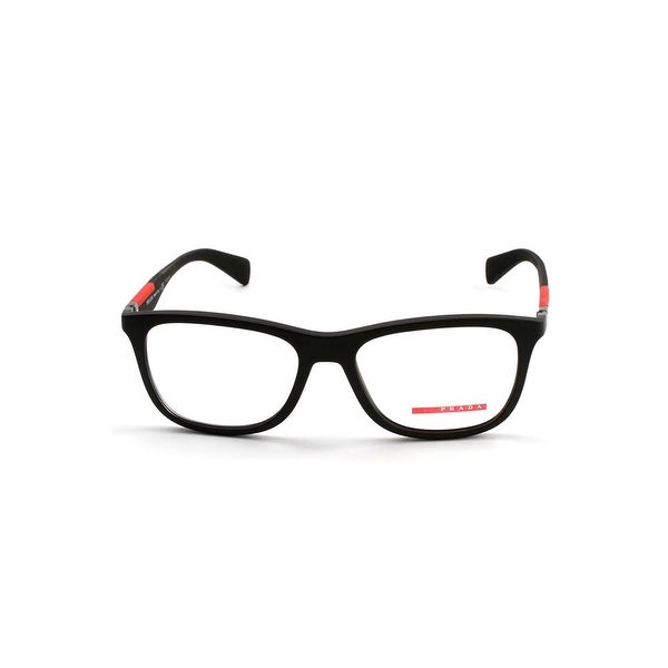 a472a4acb4f Shop Prada Linea Rossa Optical Eyeglasses In Black Rubber - Black Rubber -  One Size - Free Shipping Today - Overstock - 26301389