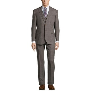 English Laundry Slim Fit Brown Donegal Suit 40 Regular 40R Pants 33W