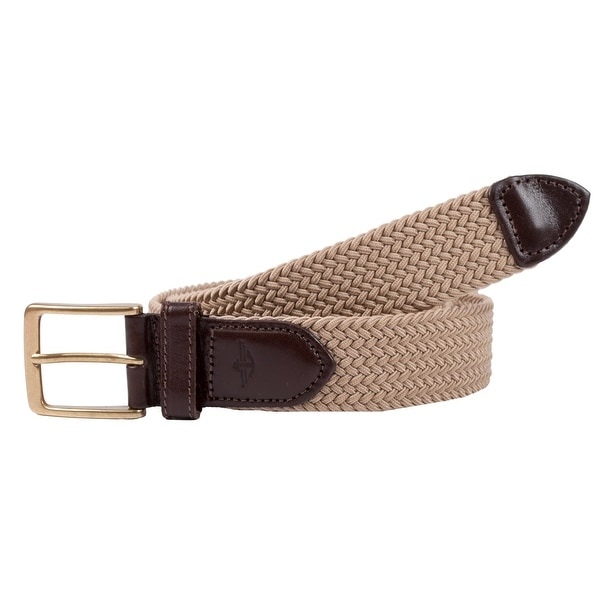 Dockers Men's Big & Tall Elastic Braided Belt with Leather Tabs