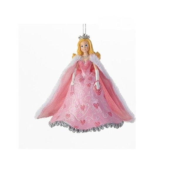 "4"" Decorative Pink Princess with Cape Hanging Christmas Ornamen"