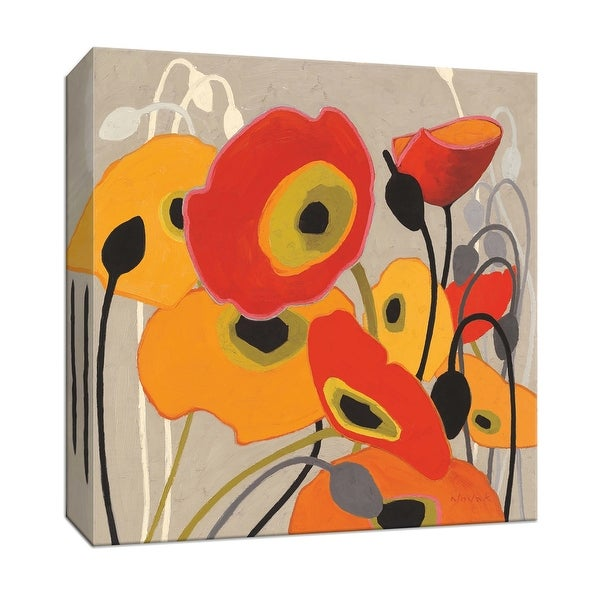 """PTM Images 9-153288 PTM Canvas Collection 12"""" x 12"""" - """"Mango Tango I"""" Giclee Flowers Art Print on Canvas"""