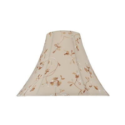 """Aspen Creative Bell Shape Spider Construction Lamp Shade in Apricot (6"""" x 16"""" x 12"""")"""