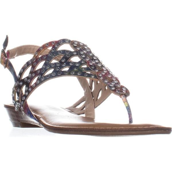 ZiGiSoho Mariane Flat Thong Sandals, Pink Multi - 7.5 us