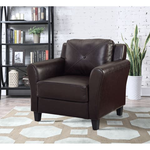 Lifestyle Solutions Harvard Faux Leather Chair
