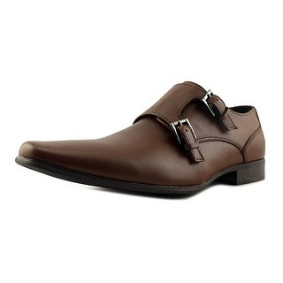 Calvin Klein Bayard Men Round Toe Leather Brown Loafer
