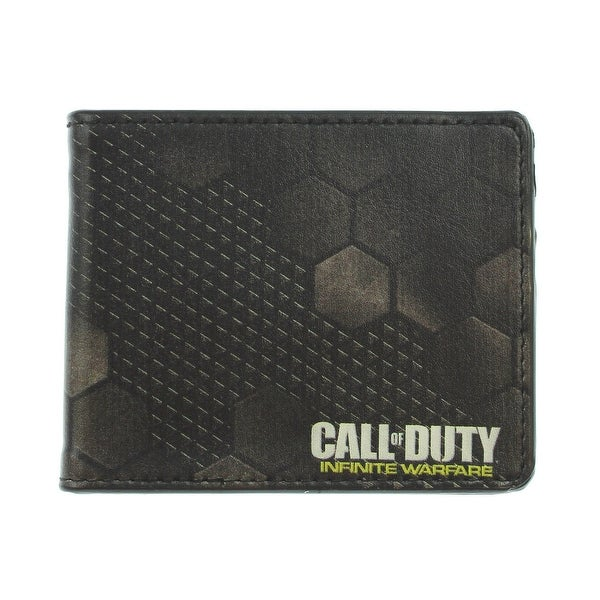 Call Of Duty Infinite Warfare Armor Pattern Blacks White Yellow Bi Fold Bi-Fold Wallet - One Size Fits most
