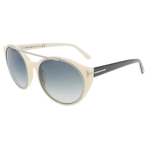 Tom Ford FT0383/S 25B Joan Ivory/Black Round Sunglasses - 52-19-140