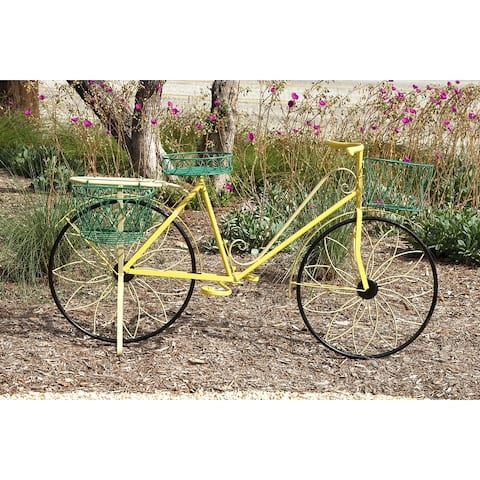 Farmhouse 32 x 54 Inch Metal Bicycle Plant Stand by Studio 350