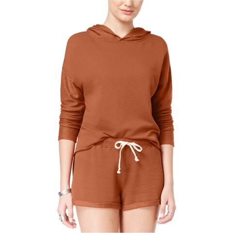 American Rag Womens Frayed Hoodie Sweatshirt