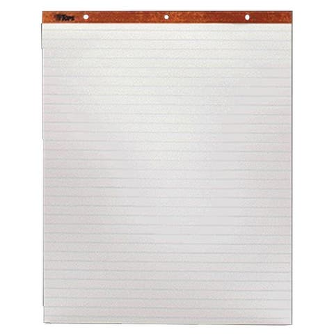 Tops Easel Pad, 27 x 34 Inches, Ruled, White, 50 Sheets, Pack of 2