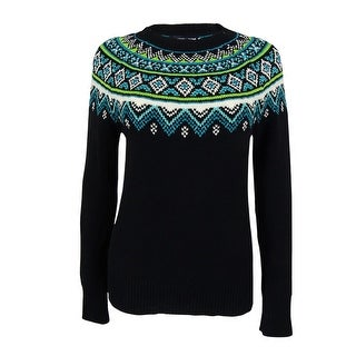 American Living Women's Fair-Isle Crewneck Sweater