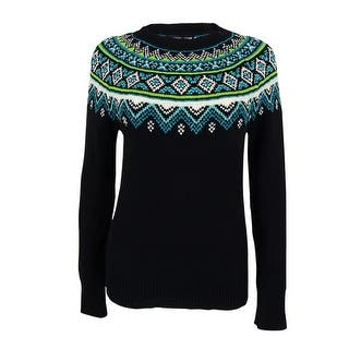 American Living Women's Fair-Isle Crewneck Sweater|https://ak1.ostkcdn.com/images/products/is/images/direct/ecf04ff42dab31043f660d8680b2d4c2ba727e7c/American-Living-Women%27s-Fair-Isle-Crewneck-Sweater.jpg?impolicy=medium