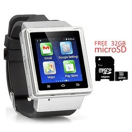 Indigi® Android 4.4 SmartWatch and Phone (3G Factory Unlocked) + Built-In Camera + Google Maps w/ 32gb microSD Included